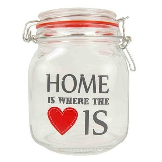 Home is Where the Heart Is 34 oz. Glass Jar