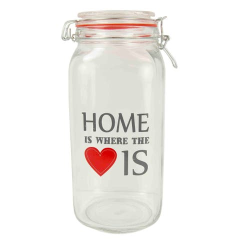 Home is Where the Heart Is 68 oz. Glass Jar