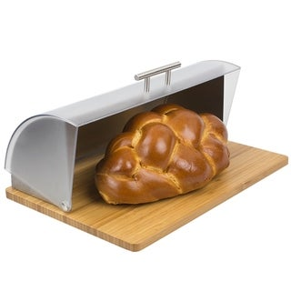 Link to Bread Box with Wood Base and Acrylic Lid, Natural Similar Items in Kitchen Storage