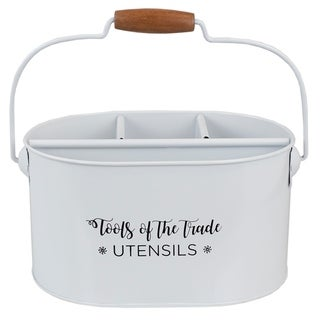 Link to Cuisine Collection Tin Utensil Holder with Wood Handle, White Similar Items in Kitchen Storage