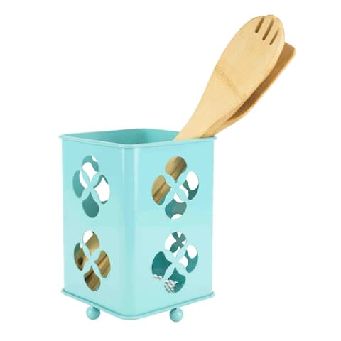 Trinity Collection Cutlery Holder, Turquoise