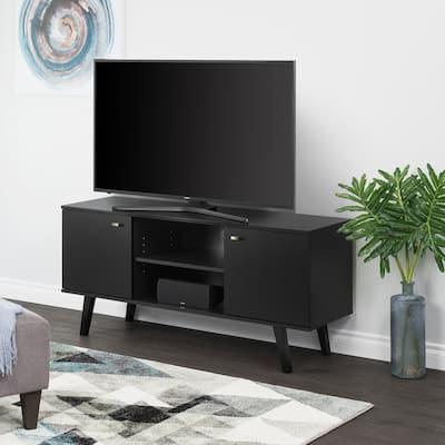 "Milo Mid Century Modern 56-Inch TV Console - 56"" W x 25"" H x 16"" D"