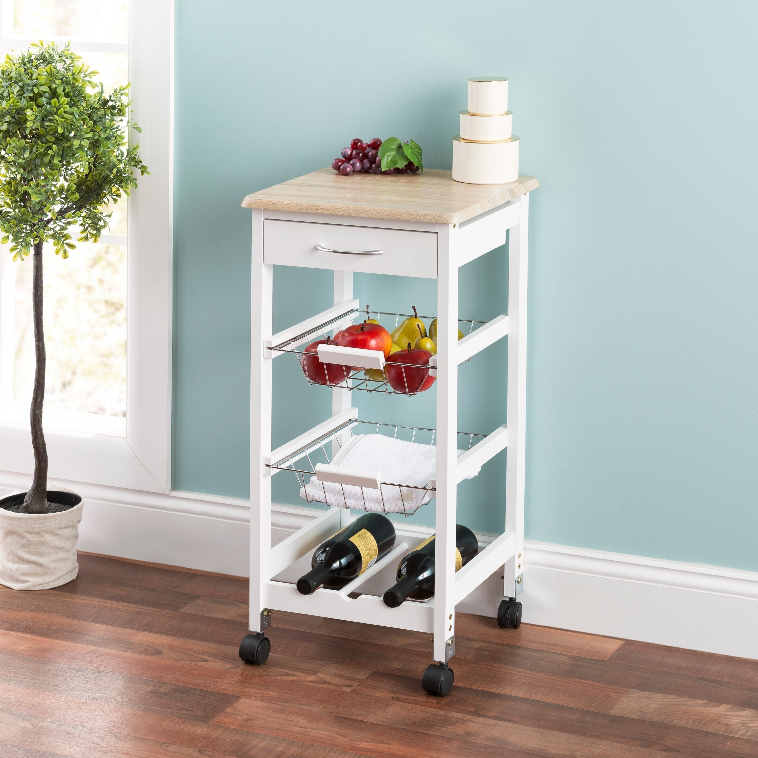 Kitchen Trolley with Drawers and Baskets