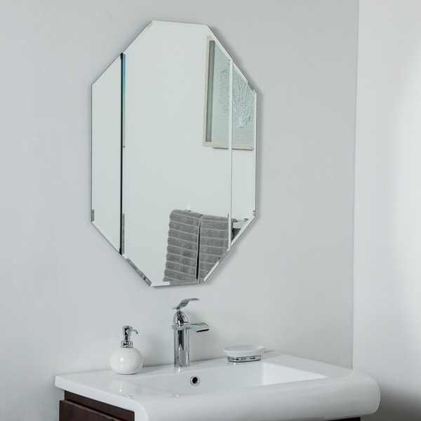 Bannery Frameless Bevel Mirror 31.5 x 23.6 Wall Mirror - Silver - 31.5x23.6x.5