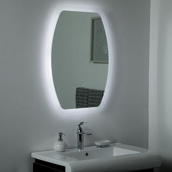 Lexy LED Bathroom & Selfie Mirror 31.5x 23.6in Vanity Mirror - Silver - 31.5x23.6x1