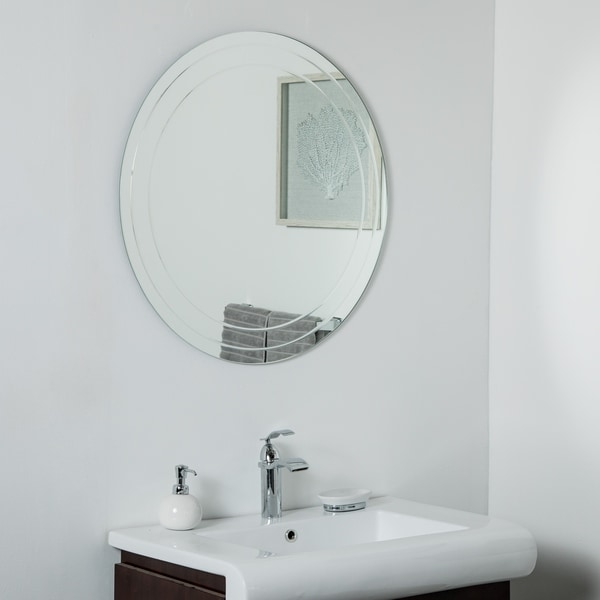 Turner Frameless 30in Round Wall Mirror - Silver - 30diax.5