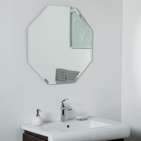 Vantall Frameless Mirror 27.5 x 27.5 Wall Mirror - Silver - 27.5x27.5x.5