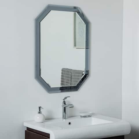 Grella Frameless Wall Mirror 31.5 x 23.6in Bathrooom Mirror - Silver - 31.5x23.6x.5