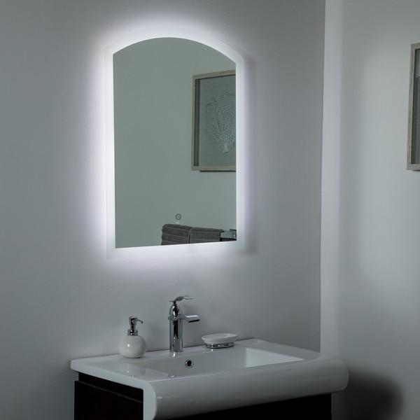 Luna B. LED Bathrom & Selfie Mirror 31.5x 23.6in Bathroom Mirror - Silver - 31.5x23.6x1