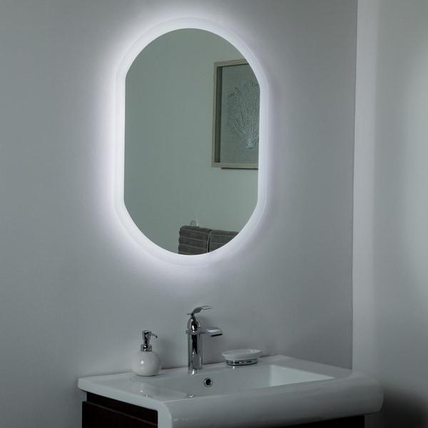 Luka Backlit LED Mirror 31.5 x 23.6in Bathroom Mirror - Silver - 31.5x23.6x1