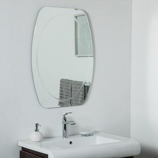 Remiform Frameless Bevel Mirror 31.5 x 23.6 Wall Mirror - Silver - 31.5x23.6x.5