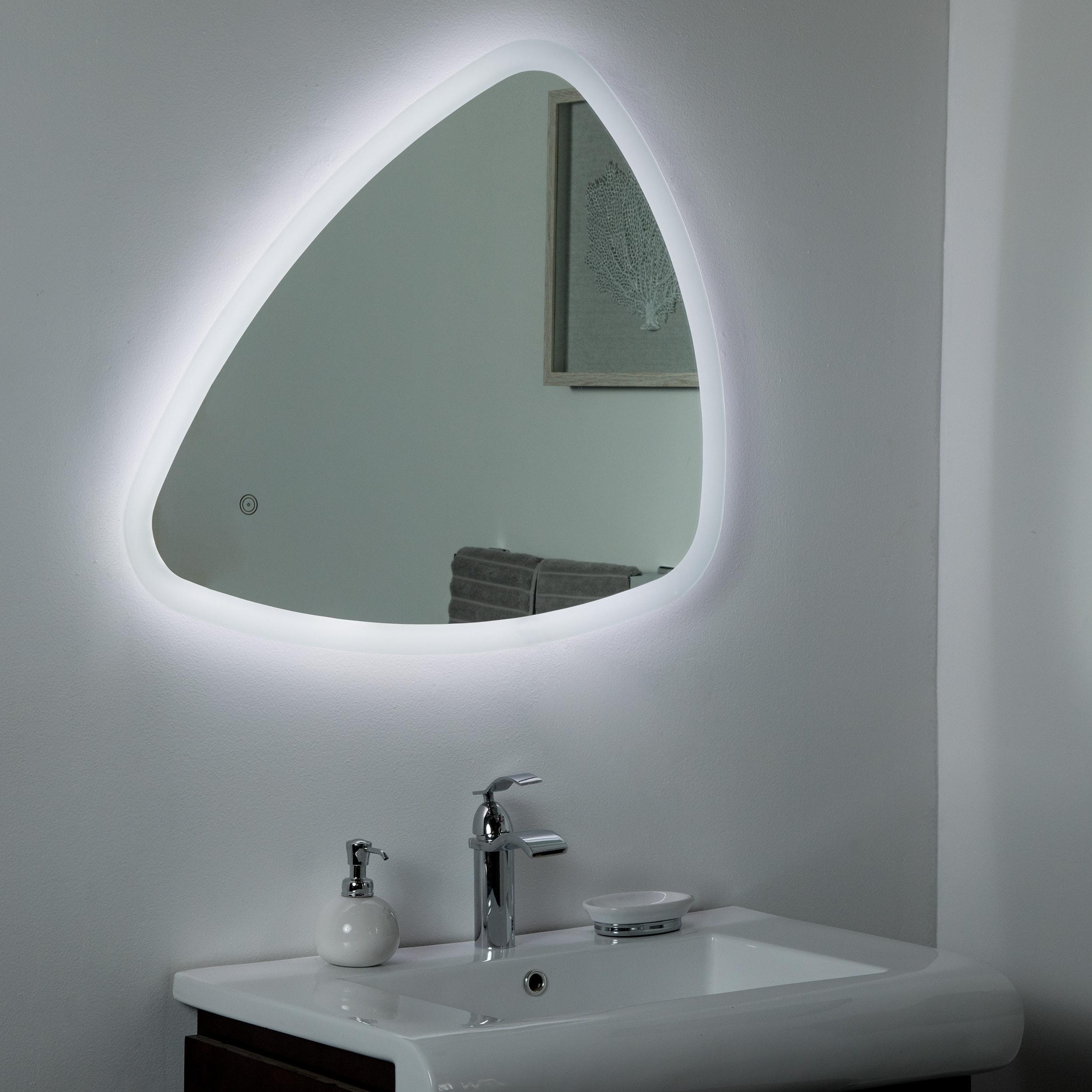Ashley Backlit Led Mirror 33 5 X 23 6 In Bathroom Silver 5x27 5x1