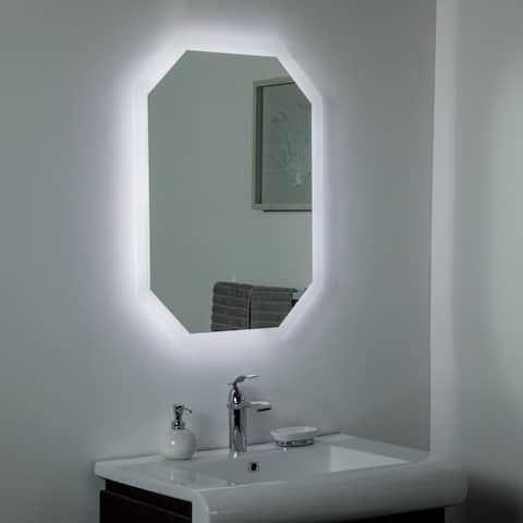Margot LED Bathroom Mirror 23.6 x 31.5in. Vanity Mirror - Silver - 31.5x23.6x1