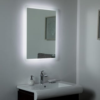 Dynaris Backlit LED Mirror 23.6 x 31.5in Bathroom Mirror - Silver - 31.5x23.6x1