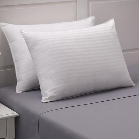 Weatherproof Vintage Home Dobby Stripe Cotton Pillow Set of 2 - White