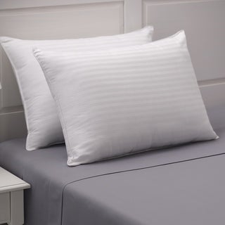 Link to Weatherproof Dobby Stripe Cotton Pillow Set of 2 - White Similar Items in Pillows
