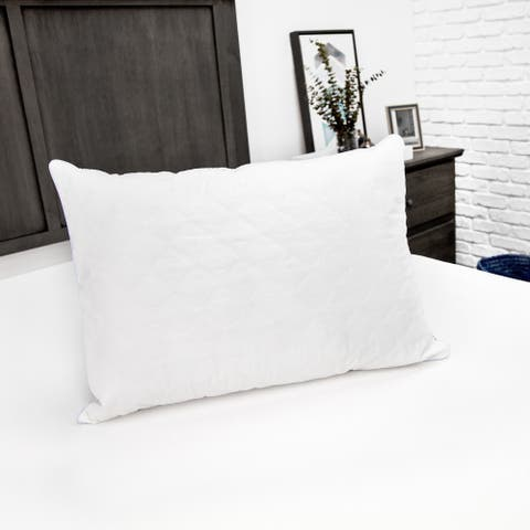 EcoPEDIC Fiber Bed Pillow with Cotton Zippered Pillow Cover