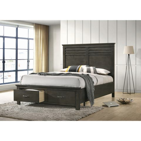 Porch & Den Cecilia Wood Finish Wooden 2-drawer Transitional Storage Bed