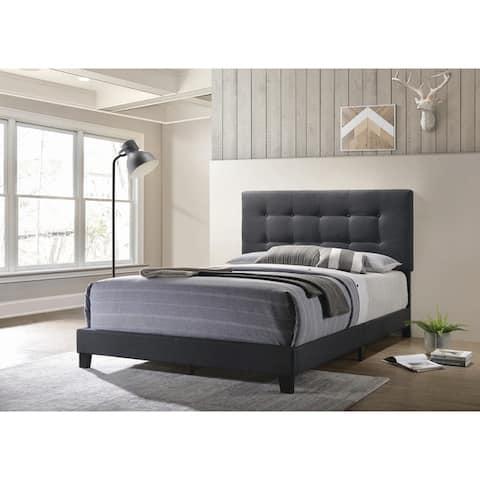 Porch & Den Tippitt Upholstered Tufted Bed