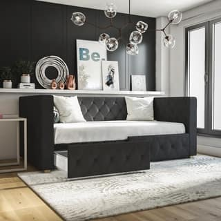 CosmoLiving by Cosmopolitan Charlotte Upholstered Daybed with Storage