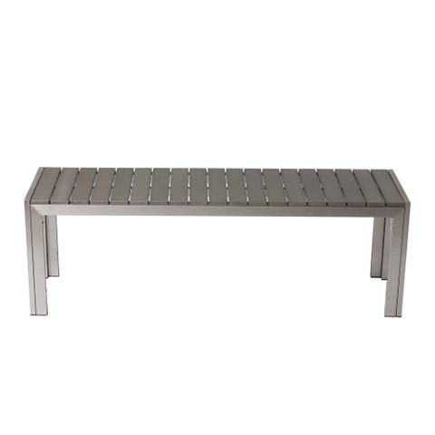 Gulick Grey Aluminum Bench by Havenside Home