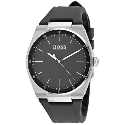 Hugo Boss Men's 1513564 'Magnitude' Grey Silicone Watch