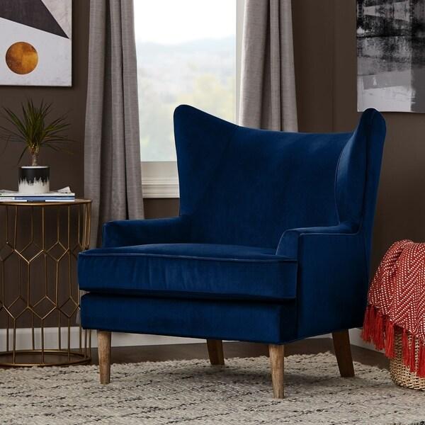 Finch Wyatt Fabric/Wood Wingback Chair. Opens flyout.