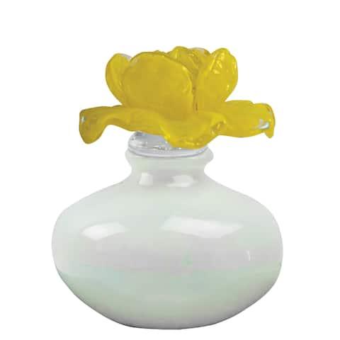 "Springdale 6.5""H Wakefield Rose Art Glass Perfume Bottle"