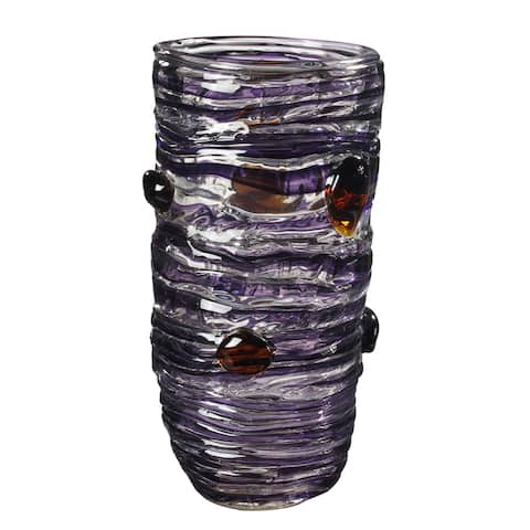 "Springdale 14.25""H Purple Kai Art Glass Vase"