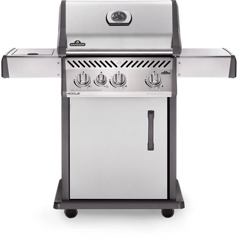 Napoleon Rogue® 425 Gas Grill with 3 Main Burners and a Range Side Burner in Stainless Steel