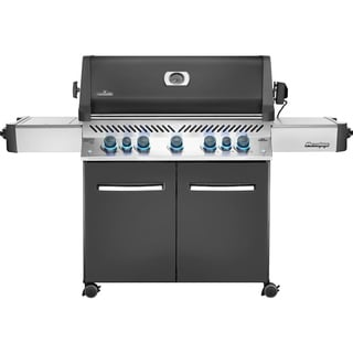 Napoleon Prestige® 665 Gas Grill with 5 Main Burners and Infrared Side and Rear Burners, Rotisserie Kit included (Grey - Propane Gas)