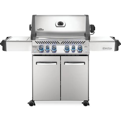 Napoleon Prestige® 500 Gas Grill with 4 Main burners and an Infrared Side and Rear Burner, Rotisserie Kit Included