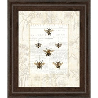 "22 in. x 26 in. ""Bee Botanicals"" By Sue Schlabach Framed Print Wall Art"