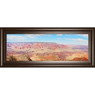 """18 in. x 42 in. """"Grand Canyon Panorama I"""" By Sylvia Coomes Framed Print Wall Art"""