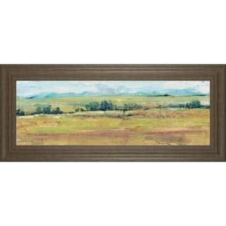 """18 in. x 42 in. """"Distant Treeline Panel II"""" By Tim Otoole Framed Print Wall Art"""