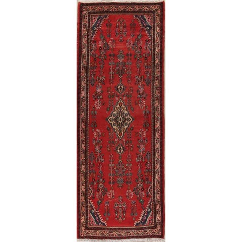 "One-Of-A-Kind Vintage Lilian Persian Hand Knotted Oriental Runner Rug - 9'0"" x 3'7"" Runner"