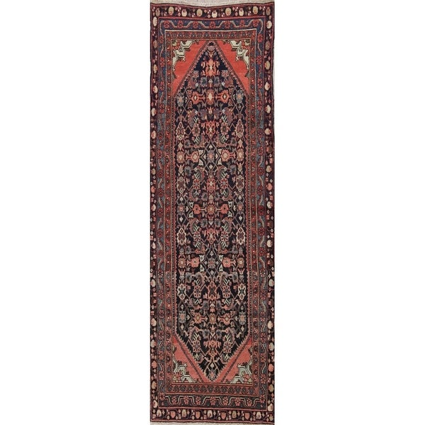 """One-Of-A-Kind Malayer Persian Vintage Hand-Knotted Oriental Runner Rug - 11'2"""" x 3'4"""" Runner"""