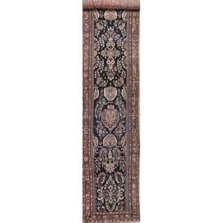 "Vintage Lilian Persian Oriental Hand Knotted Wool Runner Rug - 18'2"" x 3'3"" Runner"