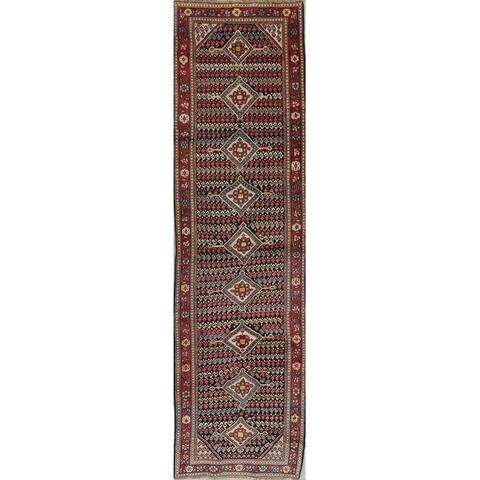 """Antique Sultanabad Persian Hand-Knotted Wool Oriental Runner Rug - 12'0"""" x 3'2"""" Runner"""