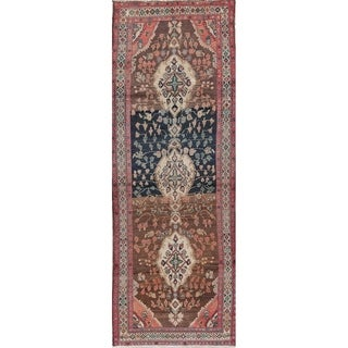 """One-Of-A-Kind Malayer Persian Hand Knotted Oriental Runner Rug - 9'6"""" x 3'7"""" Runner"""