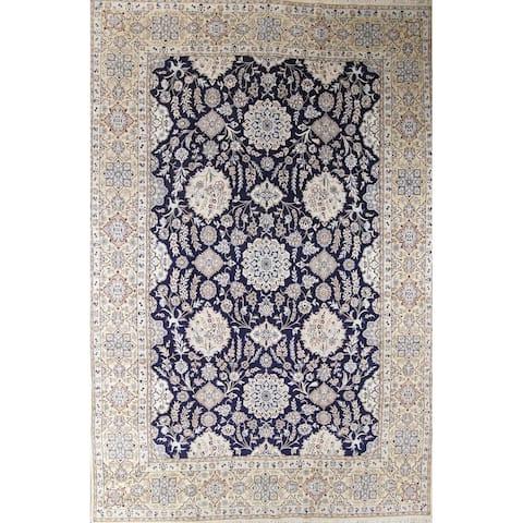 "Palace Sized Wool/Silk Nain Persian Hand Made Oriental Area Rug - 19'7"" x 12'11"""