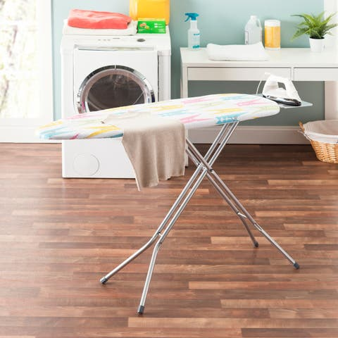 "Sunbeam Colorful Clothespins 15"" x 54"" Cotton Ironing Board Cover, Multi-Color"