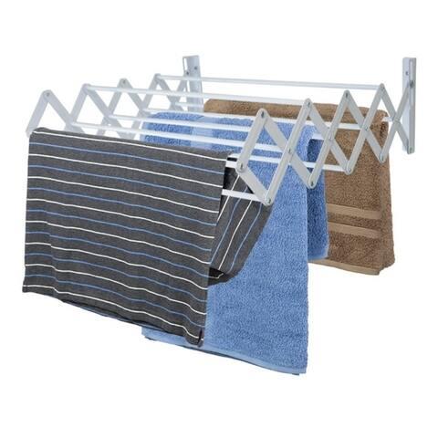 Sunbeam Wall-Mounted Steel Accordion Drying Rack, Grey