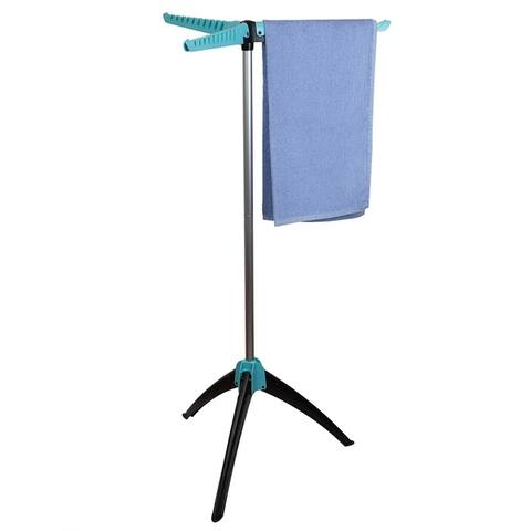Sunbeam Collapsible Tripod Clothes Drying Rack, Blue