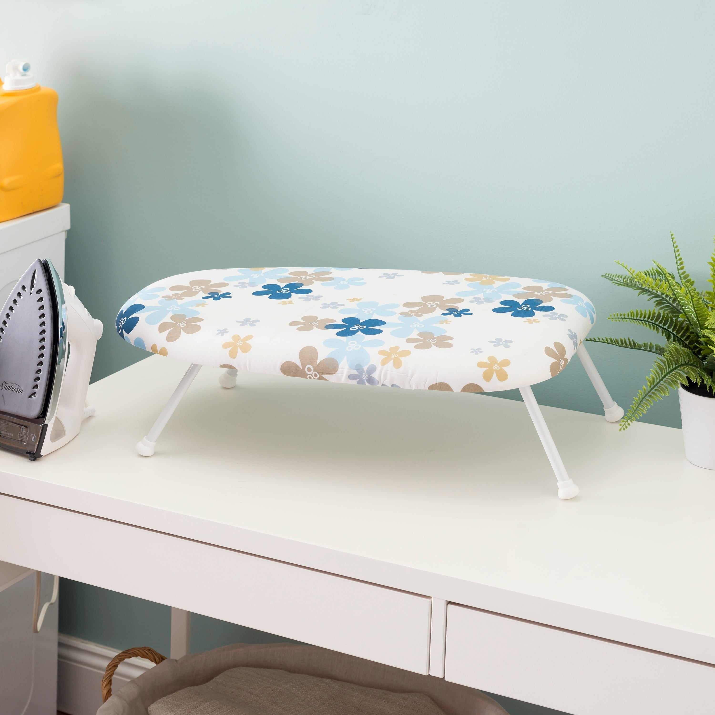 Sunbeam Tabletop Ironing Board With Removable And Washable Cover Overstock 28123472