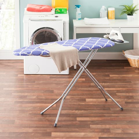 "Sunbeam Lovely Lattice 15"" x 54"" Cotton Ironing Board Cover, Blue"