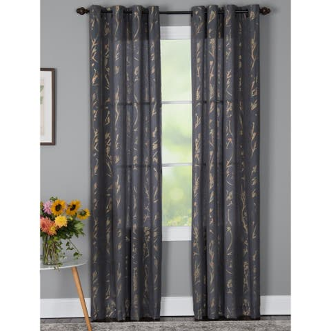 Porch & Den Annand Grommet-Top Curtain Panel