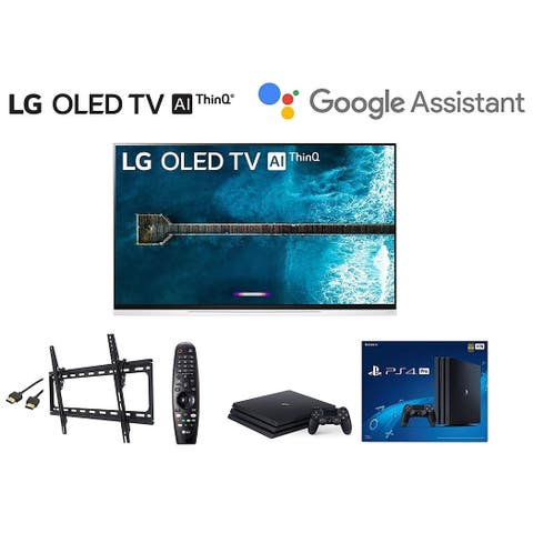 LG OLED65E9PUA 65 inch Class 4K Smart OLED TV w/ PS4 Pro 4K w/Wall Mount Kit w/HDMI Cable
