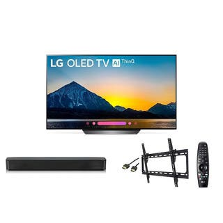 LG OLED OLED55B8PUA C8 55 inch Class 4K Smart OLED TV w/ LG SK1 Soundbar w/ Wall Mount Kit & HDMI Cable