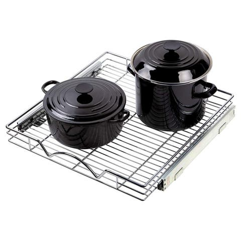"Slide Out Cabinet Organizer - 20""W X 21""D, Requires at least 21 Pull Out Under Cabinet Pots & Pans Sliding Shelf"